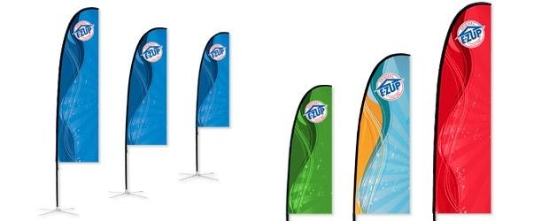 Διαφημιστική σημαία Λεπίδα Slim Blade Τυπωμένη