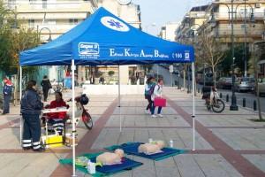 10ος Διεθνής Μαραθώνιος Μέγας Αλέξανδρος Ομάδα εθελοντών διασωστών ΕΚΑΒ 2015