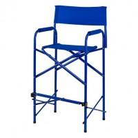 Director chair tall blue
