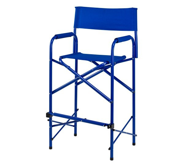 Director chair tall blue