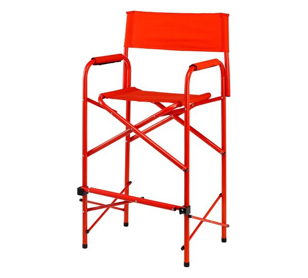 Director chair tall red